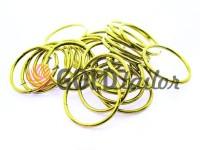 Кільце сталеве 25 мм, товщина 2 мм, колір золото