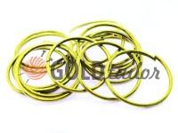 Кільце сталеве 32 мм, товщина 2 мм, колір золото
