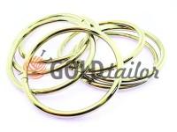 Кільце сталеве 50 мм, товщина 4 мм, колір нікель