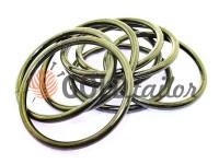Кільце сталеве 50 мм, товщина 4 мм, колір темний нікель