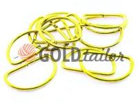 Півкільце сталеве 25 мм, товщина 2 мм, колір золото