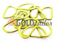 Півкільце сталеве 25 мм, товщина 2,5 мм, колір золото