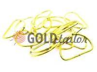 Півкільце сталеве 30 мм, товщина 2 мм, колір золото, 10 шт