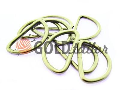 Купити півкільце сталеве 40 мм, товщина 4 мм, колір сатин оптом і вроздріб
