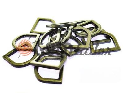 Купити півкільце штамповане сталеве 19 мм, товщина 3 мм, колір темний нікель оптом і вроздріб