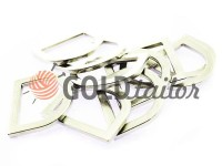 Semiring stamped steel 25 mm, thickness 3,5 mm, the color of nickel