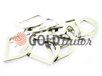 Купити півкільце штамповане сталеве 25 мм, товщина 3,5 мм, колір нікель оптом і вроздріб