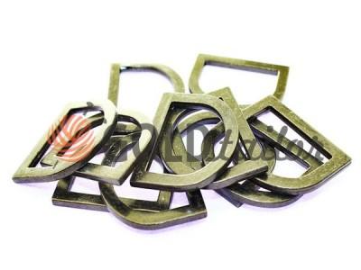 Купити півкільце штамповане сталеве 25 мм, товщина 3,5 мм, колір темний нікель оптом і вроздріб