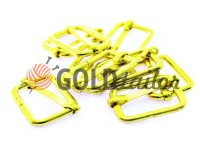 Limiter metal 20 mm, thickness 2,5 mm, color gold, 10 pcs