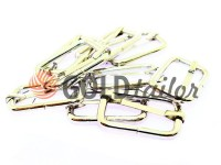Limiter metal 25 mm, thickness 3 mm, color nickel, 10 pcs