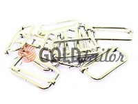 Limiter metal 32 mm, thickness 2,5 mm, color nickel, 10 pcs