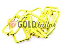 Limiter metal 35 mm, thickness 2 mm, color gold, 10 pcs