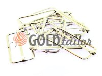 Limiter metal 38 mm, thickness 2 mm, color nickel, 10 pcs