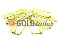 Limiter metal 38 mm, thickness 2,5 mm, color gold, 10 pcs