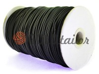 Cord elastic black 2,5 mm, 3 mm, 4 mm