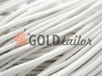 Cord elastic white 2,5 mm, 3 mm, 4 mm