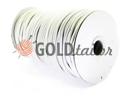 Шнур еластичний білий різних діаметрів оптом і вроздріб
