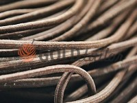 Cord elastic brown 3 mm