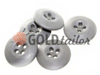 Button NATO 20 mm four holes, gray