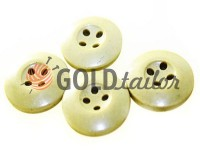 Button NATO 20 mm four holes, light beige