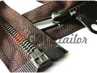 Блискавка металева тип 5 роз'ємна, колір коричневий, зуб антік