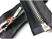 Блискавка металева тип 4 роз'ємна, колір чорний, зуб нікель