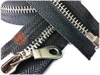 Блискавка металева тип 5 роз'ємна, колір чорний, зуб нікель