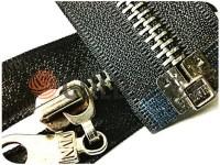 Блискавка металева тип 5 роз'ємна посилена, колір чорний, зуб нікель