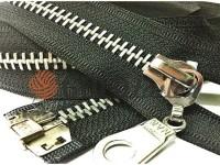 Zipper metal type 8 the split strengthened, color black, nickel teeth