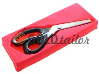 Shears tailors zig-zag with a plastic handle and a self-sharpening blades