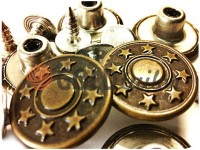 "Buttons denim ""Star"" 17 mm, color antique, 10 pcs"
