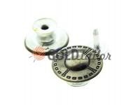 "Buttons denim ""Dash"" 17 mm, color black nickel, 10 pcs"