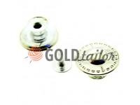 """Buttons denim """"Dash"""" 17 mm, color nickel, 10 pcs"""