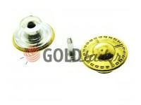 """Buttons denim """"Dash"""" 17 mm, 20 mm, color gold, 10 pcs"""