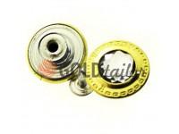 """Гудзик джинсовий """"Dash Small"""" 17 мм, 20 мм, колір золото, упаковка 10 шт"""
