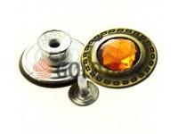 """Гудзик джинсовий """"Dash Small orange"""" 17 мм, 20 мм, колір антик, упаковка 10 шт"""