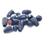 Tip bell plastic dark blue cord d= 5 mm, 10 pcs