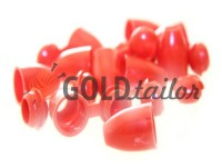 Tip bell plastic red cord d= 5 mm, 10 pcs