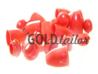 Купити накінечник Дзвіночок червоний під шнур d = 5 мм оптом і вроздріб