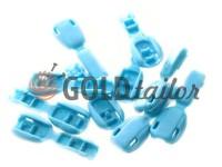 Tip beans plastic blue cord d= 6 mm, 10 pcs