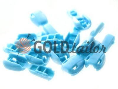 Купити накінечник Квасоль голубой під шнур d = 6 мм оптом і вроздріб