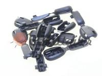 Tip beans plastic black cord d= 6 mm, 10 pcs