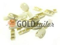 Tip beans plastic beige cord d= 6 mm, 10 pcs