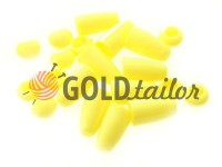Tip bell plastic yellow cord d= 4 mm, 10 pcs