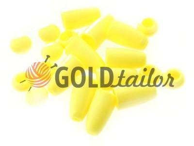 Купить наконечник Колокольчик жолтый под шнур d=4 мм оптом и розницу