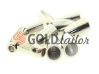 Tip bell plastic nickel 14 mm* 8 mm, cord d= 4 mm, 10 pcs