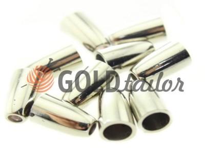 Купить наконечник Колокольчик никель под шнур d=4 мм оптом и розницу