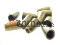 Tip bell plastic antique 14 mm* 8 mm, cord d= 4 mm, 10 pcs