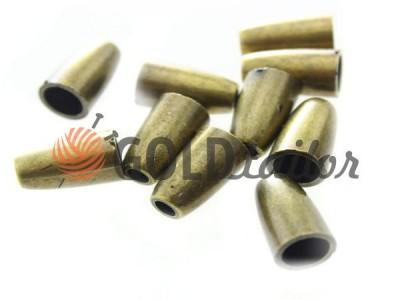 Купить наконечник Колокольчик антик под шнур d=4 мм оптом и розницу