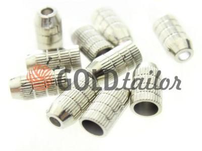 Купити накінечник рифлений нікель під шнур d = 4 мм оптом і вроздріб